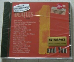 HITS OF THE BEATLES and YOU  (CD KARAOKE) NEUF SCELLE