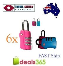 6 X 3 Digit TSA approved Combination Locks Travel Luggage Padlock Suitcase New