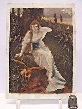 Rare White Glass Coloured Photographic Plate (Negative?) c1890-1920 - (No.1)
