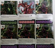 Dice Masters Avengers Disassembled Promo Set Hawkeye, Scarlet Witch, She-Hulk NM