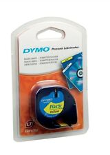Dymo (12mm) Plastic Tape (Yellow) for Dymo LetraTAG Series