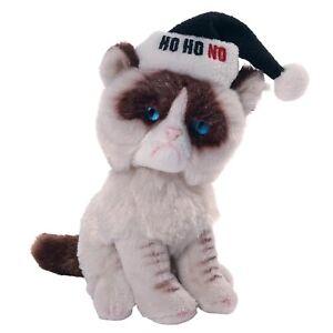 Grumpy Cat -  Christmas Holiday Ho Ho NO Hat Mini Plush Soft Toy - Gund