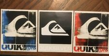 Quiksilver Skateboarding Black & Red, White And Blue Decals Logo And Brand