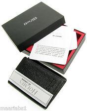 Para Hombre Negro Cuero verdadero billetera tríptica de crédito tarjeta titular Caja De Regalo Uk Nuevos Bl210