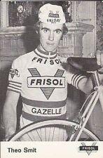 THEO SMIT Cyclisme 70s Ciclismo FRISOL Gazelle Cycling wielrennen cycliste vélo