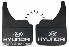 Universal Car Mudflaps Front Rear Hyundai Logo Lantra Matrix Pony Mud Flap Guard