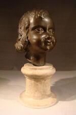ANCIEN JOLI BUSTE SCULPTURE EN BRONZE PETITE FILLE ENFANT EPOQUE 1930 ART DECO