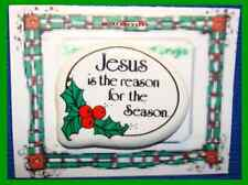 Christmas PIN #0071b Jesus Is The Reason For The Season Ceramic TacLapel HOLIDAY