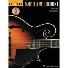 Hal Leonard Mandolin Method Book/CD Book 1 + 3 FREE PICKS, Bluegrass, Blues, TAB
