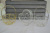 Wire metal basket ideal wedding favour flowers table decoration flowergirl