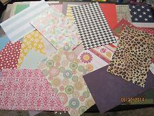 HUGE LOT* 100 Asst.* 8.5 X 5 LARGE Scrapbook Paper Pieces **Paper Crafts