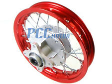 "10"" REAR RIM WHEEL DRUM BRAKE HONDA XR50 CRF50 STOCK BIKE 12mm RED M RM02R"