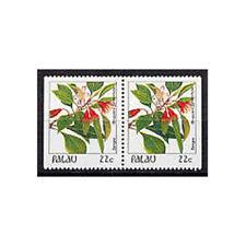 PALAU, Sc #132a, MNH, 1987, Booklet pair, Flowers, Flora, Plants, GIAW6