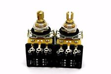 2X CTS 500K A500K DPDT PUSH-PULL SHORT SPLIT SHAFT BY MOJOTONE