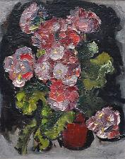 Expressionistisches altes Blumenstillleben - Topfblume