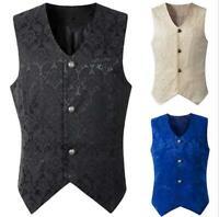 New Brocade Men's Vest Waistcoat Gothic Steampunk Victorian/Western-Reenactment#