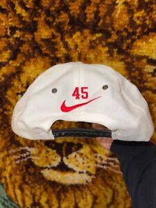 Vtg Jordan Nike Snap Back Hat #45 Rare 90s Last Dance