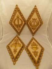 Vintage Mid Century HOMCO Wall Hangings Decor --Diamond shape  Lot of 4