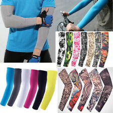 Arm Sleeves Cover UV Sun Protection Outdoor Sports Riding Arm Warmer Breathable