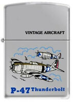 Military Aircraft P-47 Thunderbolt WWII Series Vintage Chrome Zippo Lighter