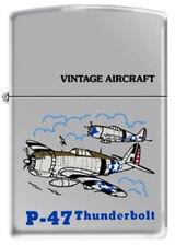 Military Aircraft P-47 Thunderbolt WWII Series Vintage Chrome Zippo Lighter