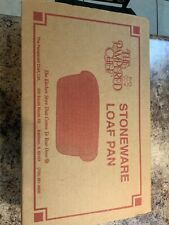 New listing Pampered Chef Stoneware Loaf Pan Used In Box