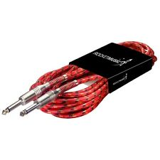 Rocket Vintage Tweed Instrument Cable - 6m Red