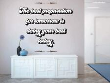 Best Preparation for Tomorrow QuoteHome Room Wall Sticker Vinyl Art Decals Decor