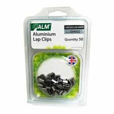 ALM GH002 PACK OF 50 GREENHOUSE CLIPS  Z SHAPE GLASS HOLDERS ALUMINIUM LAP CLIPS