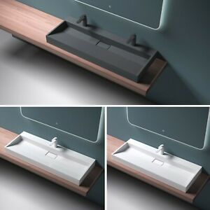 Design Gussmarmor Mineralguss Aufsatzwaschbecken Hängewaschbecken Waschtisch