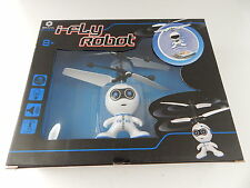 BRAHA i-Fly Robot Flying Helicopter White/Blue New