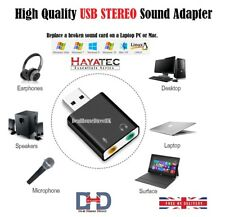 External USB 7.1 Virtual Channel Audio 3D Sound Card Adapter For Computer Mac PC