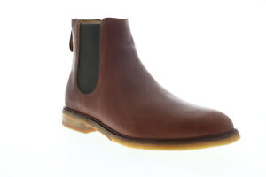 Clarks Clarkdale Gobi 26136251 Mens Brown Leather High Top Slip On Chelsea Boots