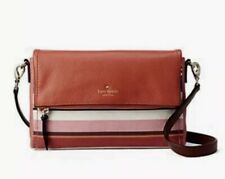 Kate Spade Crossbody Multi Stripe Marsala Cobble Hill Fabric EUC