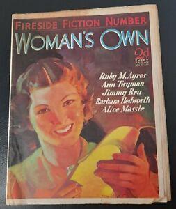 Vintage Woman`s Own magazine Nov 13th 1937 Jessie Matthews Barbara Hedworth