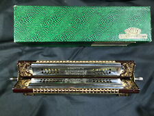 Vintage Quad Tremolo Harmonica~53/4 192~Keys of G, D, C, & F~Very Clean!