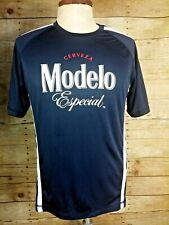 Cerveza Modelo Especial Blue White Soccer Style Athletic Mens Large L