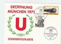 Germany  Munich 1971  opening of the subway stamps card R21182