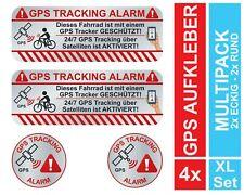 4 GPS Aufkleber Fahrrad Diebstahlschutz Tracking Alarm Sticker eBike Diebstahl