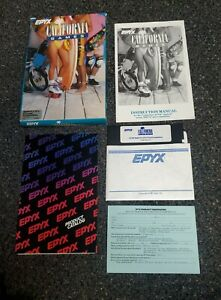 Apple II IIe IIc IIgs - CALIFORNIA GAMES - Epyx - Complete In Box - CIB