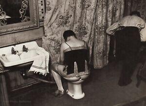 1932/76 Vintage BRASSAI Paris Brothel Nude Female Prostitute Washing Bidet Photo
