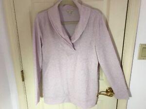 Woman's Talbots size medium pink v neck long sleeve cotton blend tunic top