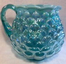 Fenton Persian Pearl Carnival Jacqueline Pitcher 8?Family Signatures QVC 1993