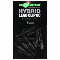 NEW Korda Quick Change Hybrid Lead Clip QC & Hybrid Tail Rubber All Colours