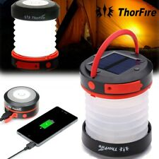 ThorFire  Solar Powered & USB rechargeable Lantern Portable LED Hiking CAMP Lamp