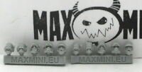Maxmini MXMCB079 Space Police Helmets (Conversion Bits) Sci-Fi Officer Heads Cop