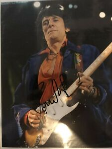 Hand Signed Ronnie Wood. Rolling Stones With COA