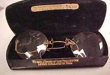 Pince Nez Eyeglass-Over Ear Gold Filled in Orig.Case Vintage-Toledo,OH = 14351C