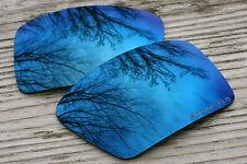 Polarized Navy Blue Mirrored Sunglass Lenses for Oakley Eyepatch 2- Grey Tint
