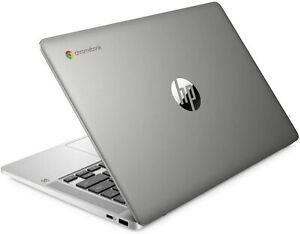 "HP 14a 14"" Chromebook - Intel Celeron 64 GB eMMC Silver Free Sleeve & Mouse"